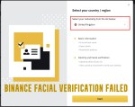 Binance Facial Verification Failed – Verify Binance Account