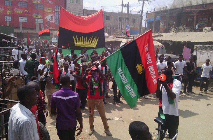 BREAKING: Police in action as IPOB members do this in the court