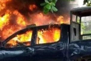Breaking!(video) Unknòwn Gunmèn Ambùsh Governor's Convòy In Anambra, Kìll 4 DSS, Bùrn Cars; DSS Find Igboho