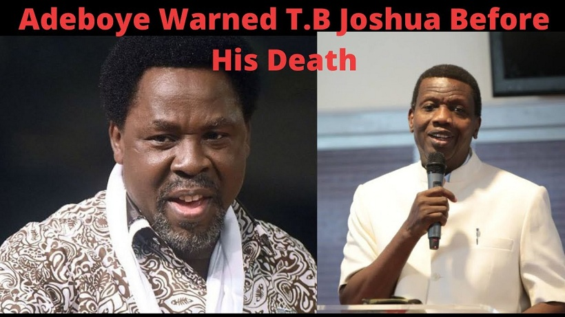 MUST WATCH!! Pastor Adeboye's advice to Prophet TB Joshua before his death