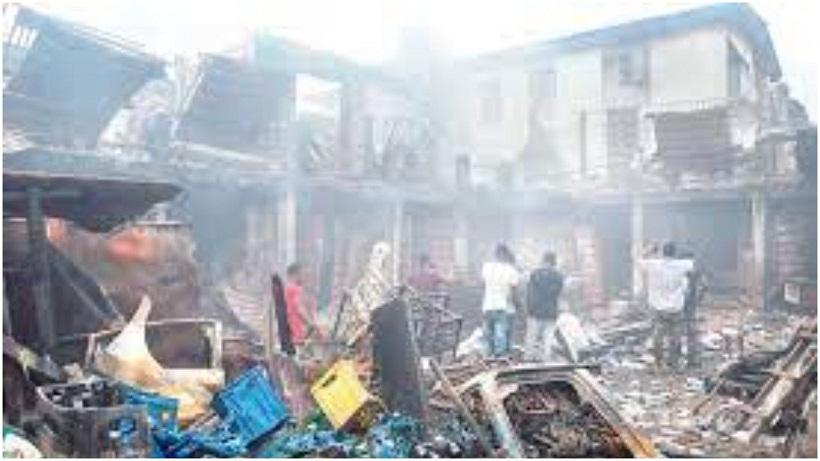 TRAGEDY: Fire razes down Popular Lagos market destroys goods worth millions of naira