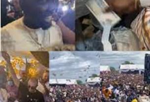 VIRAL VIDEO: Top politician seen spraying money like Obi Cubana (VIDEO)