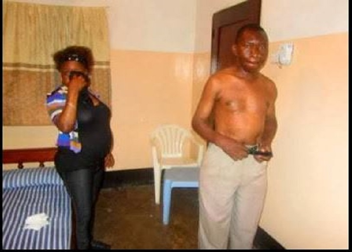 SHAME: Photos of Pregnant woman caught With Another Man In A Hotel