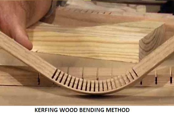Kerfing wood bending method infozone