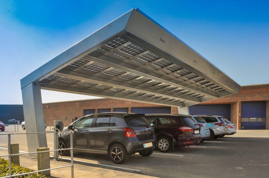Solar carport Aarhus