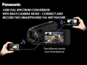 PANASONIC V380 MULTI CAMERA FULL SPECTRUM GHOST HUNTERS CAMCORDER