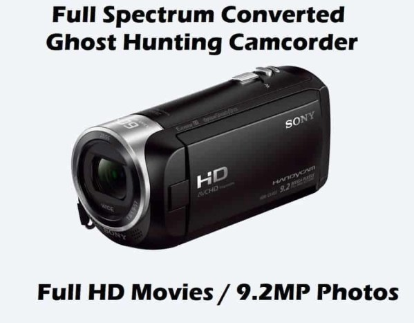 nightvision camcorder full spectrum sony ghost hunting equipment