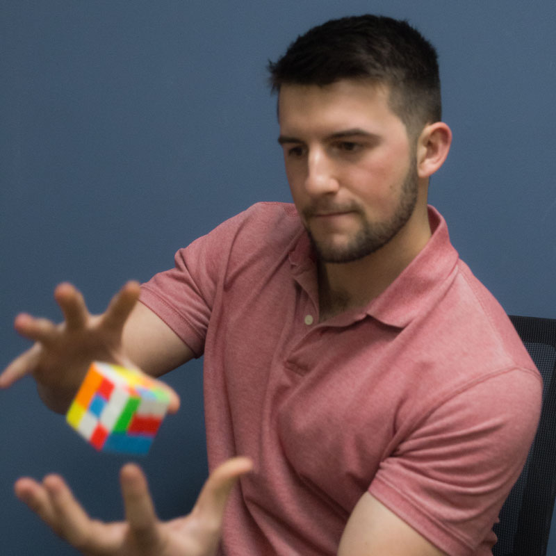 Infrasense team ryan grover rubix cube