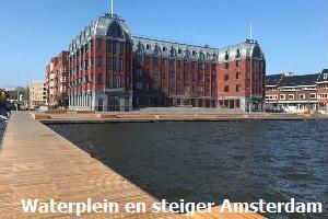 Waterplein en steiger Amsterdam