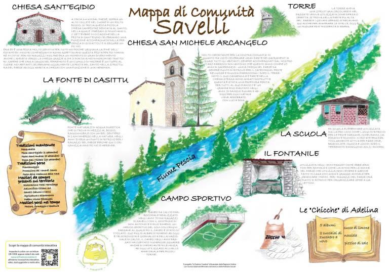 Mappa di comunità di Savelli in parole