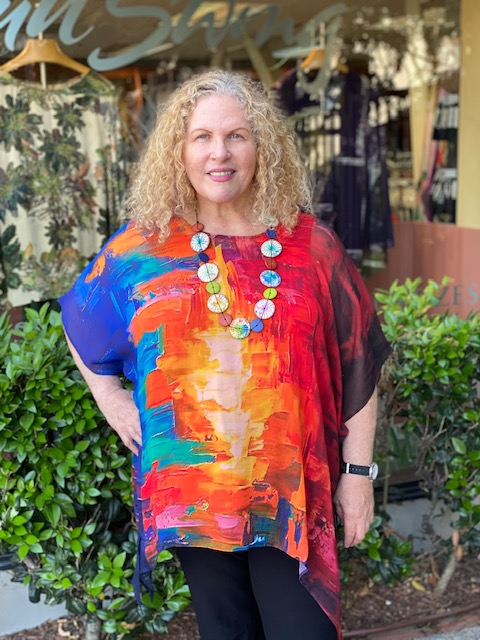 Sterling Styles Atg Sheer Coverup-Brights