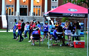 Students come together to dance