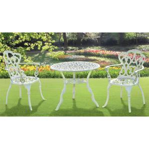 939tavolo e sedie in alluminio bianco gelsaomini