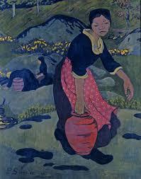 serusier donna bretone con brocca