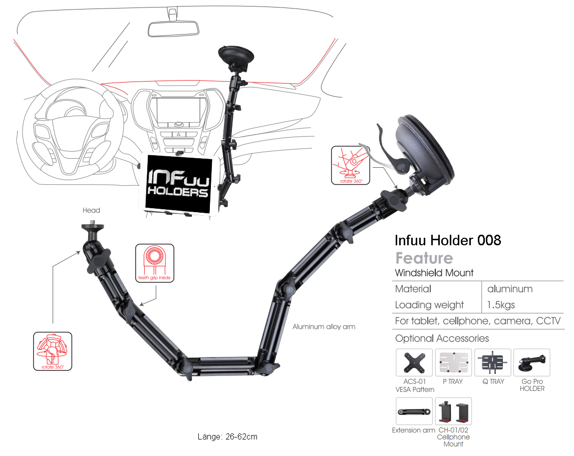 Auto Tablet Infuu Holders
