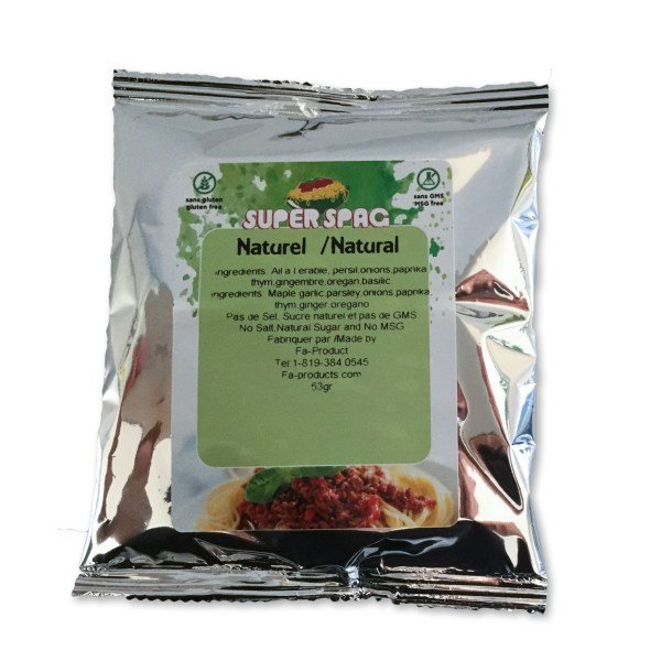 Natural Superspag spaghetti sauce spice