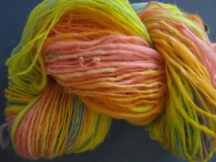 easter yarn in the skein