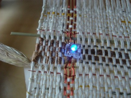 straw, magnet wire, led