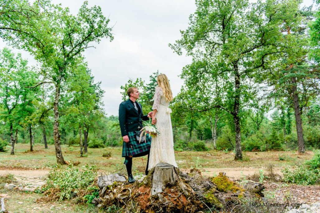 Melody + David Wedding in Fayence, South of France