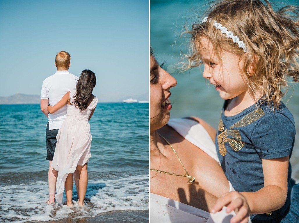 family beach session in Bodrum