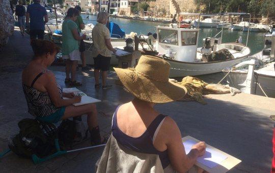 Zeichenreise Mallorca 2016