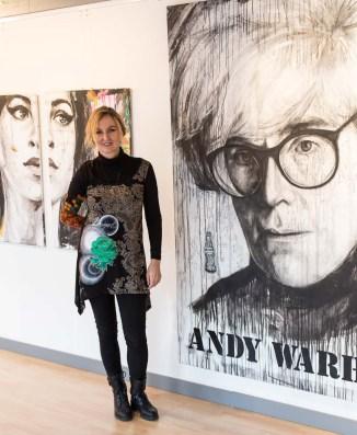 """Andy war das erste große Portrait aus der Popart Serie – es entstand 2016 in dem gemeinsamen Projekt """"Nobody"""" mit Chris May"""