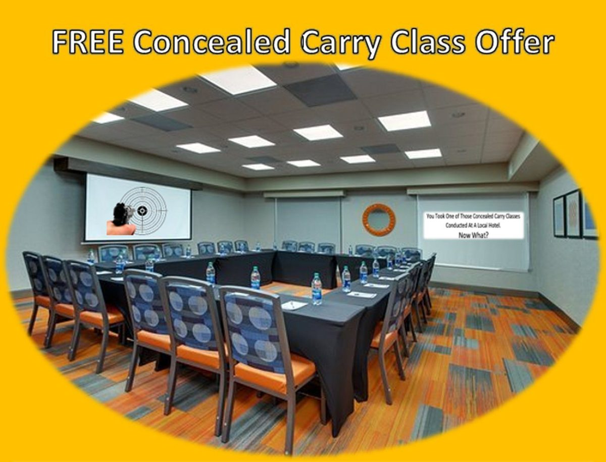 FREE CONCEALED CARRY CLASS OFFER – November Classes