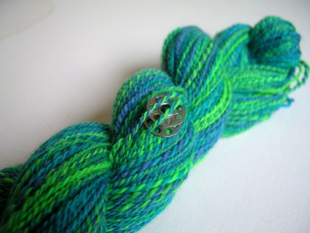 Blue-Green Spinning Yarn