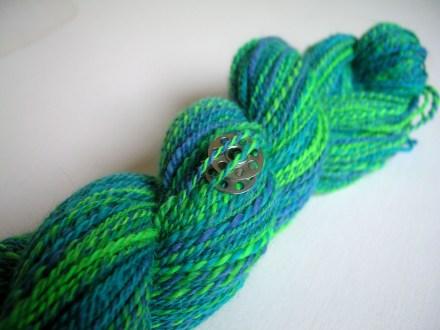 Blue-Green Spinning Yarn