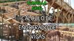 Cálculo de encofrado de vigas (Cantidad de Madera)