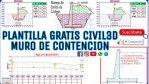 DESCARGAR PLANTILLA GRATIS CIVIL 3D PARA MURO DE CONTENCIÓN