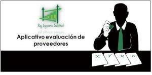 Aplicativo excel evaluación proveedores