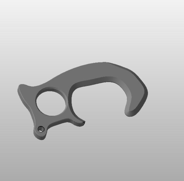 llavero anti-contacto fabricado con impresora 3D