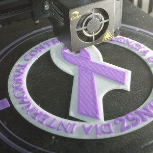 Logo 25N dos colores impresión 3D