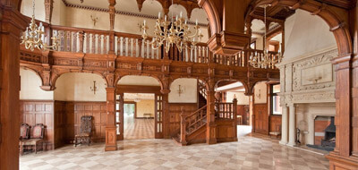 grand hallway of large house