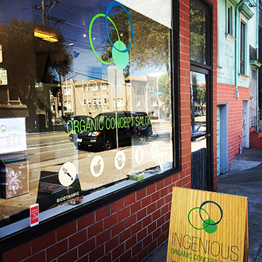 "Ingenious Salon wins Pacific Flair's ""San Francisco's Best Environmentally Friendly Salon"""