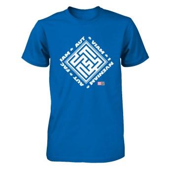 Aut Viam Inveniam Aut Faciam wht T-shirt with logo and QR