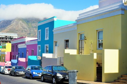 Colorful houses in the Cape Town's Bo Kaap neighborhood