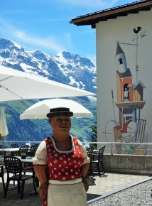 Restaurant hostess in Murren