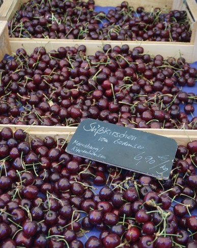 Cherries at a Meersburg market