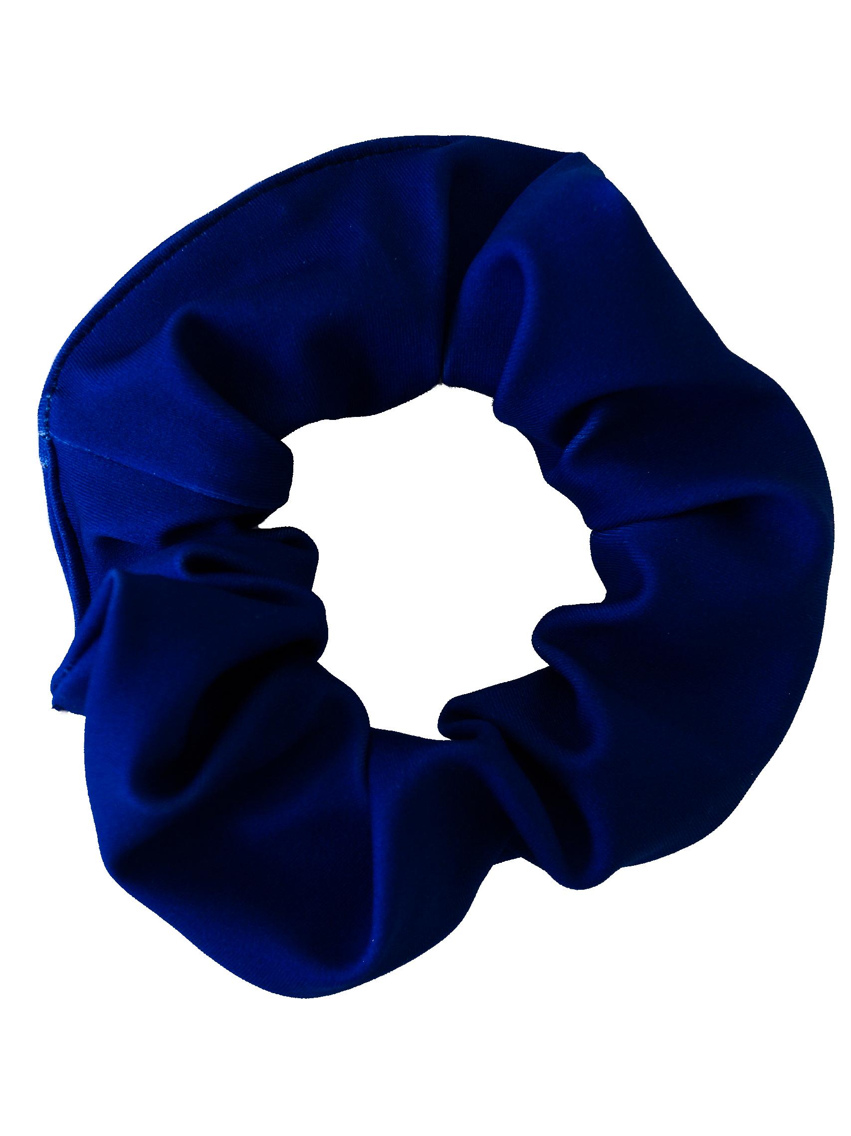 Haarwokkel Lycra donker blauw