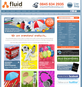 Fluid Branding Website - May 2012