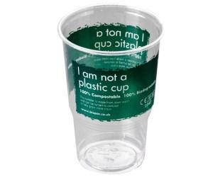 Biopac compostable plastic cup geri dönüştürülebilir plastik bardak