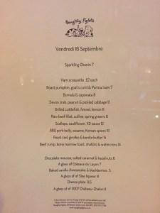 Naughty Piglets menü menu