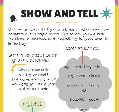 Expresión oral en el aula: SHOW AND TELL