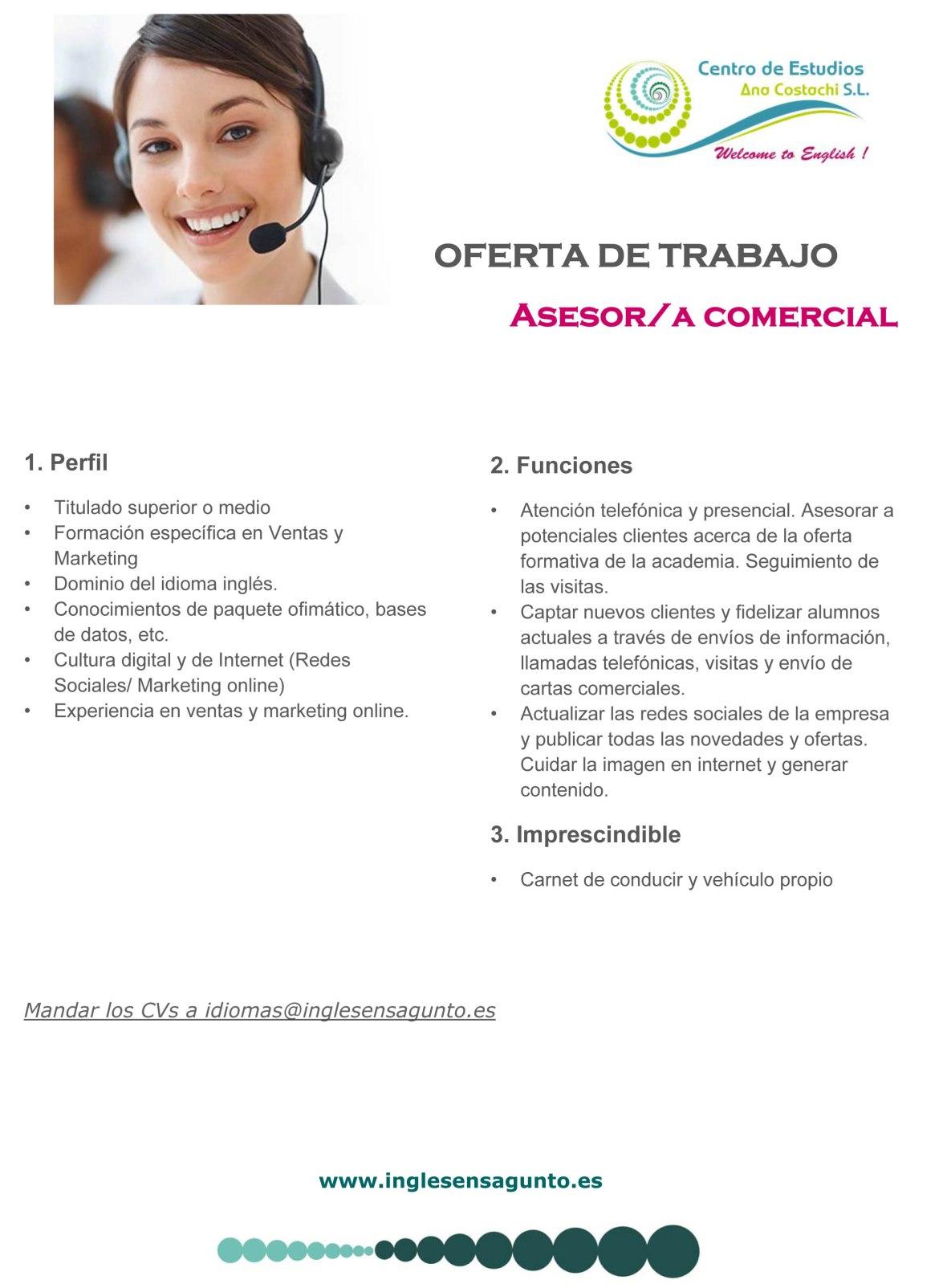 Microsoft Word - Oferta de trabajo recepcionista