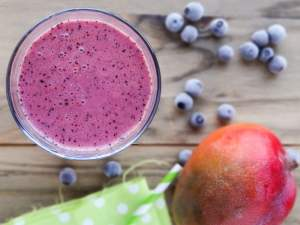 Receita: Blueberry Mango Smoothie