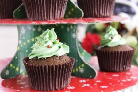 xmas tree cupcakes cafelula