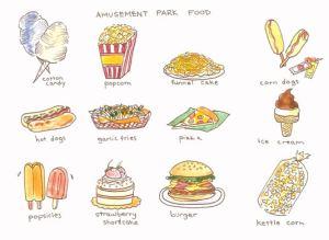 Amusement Park Food – Comida de Parque de Diversões