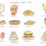 Amusement Park Food – Comida de Parque de Diversões {em inglês e português}